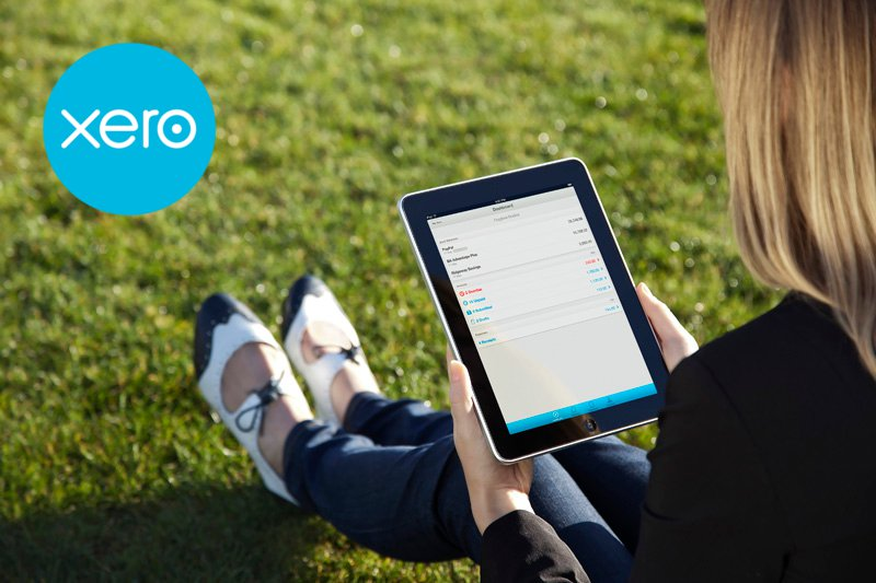 xero on an ipad outsite